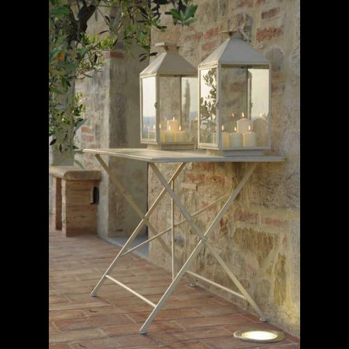 Tavolo pieghevole ferro bianco