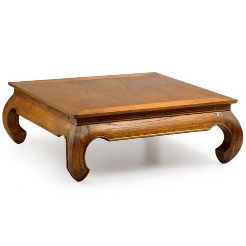Tavolino quadrato neo-coloniale