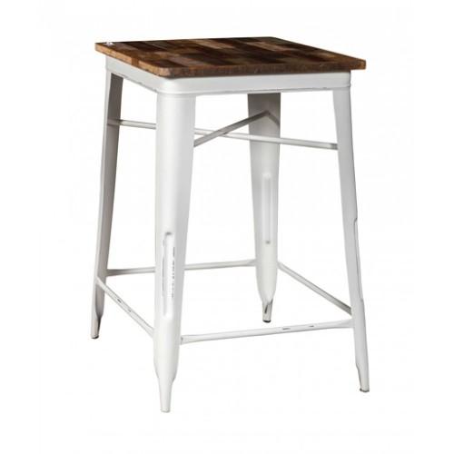 Tavolo bar industrial bianco