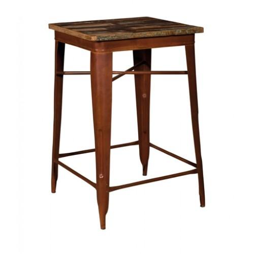 Tavolo bar stile industriale marrone