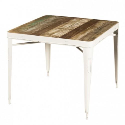 Tavolo bianco vintage da bar