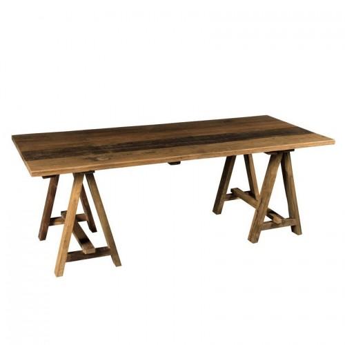 Tavolo cavalletti legno massello