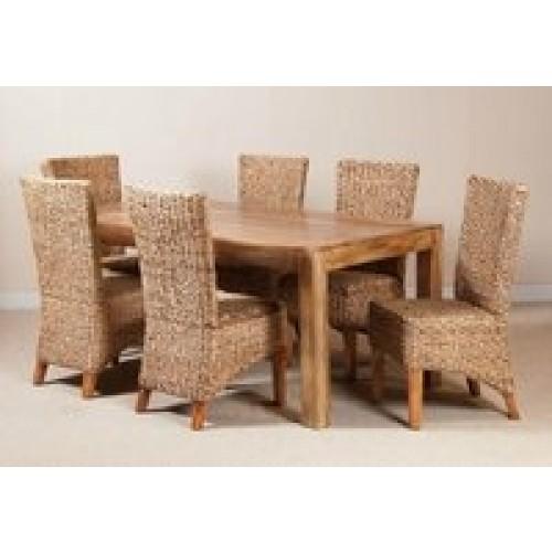 Tavolo legno massello naturale 160cm Etnic Outlet Arredamento Etnico ...