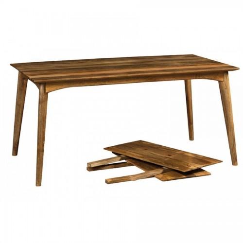 Tavolo etnico retrò legno naturale