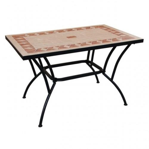 Tavolo in ferro top ceramica