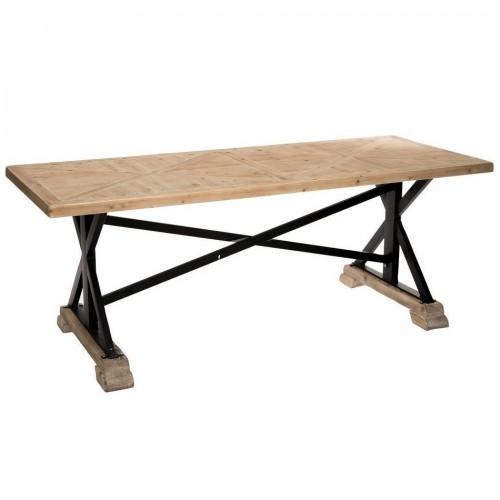 Tavolo industrial legno naturale