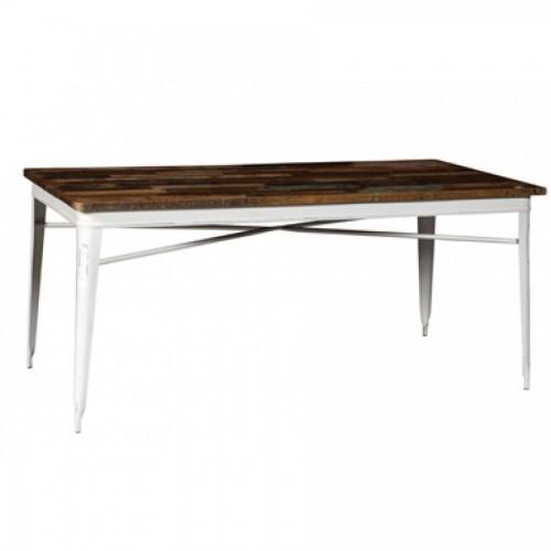 Tavolo legno industrial bianco