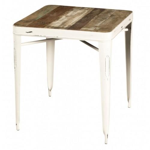Tavolo piccolo vintage bianco