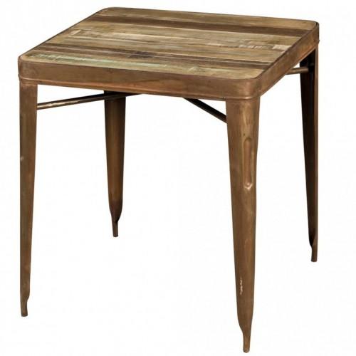 Tavolo piccolo vintage rustico