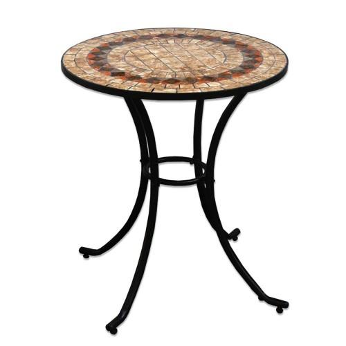 Tavolo rotondo in ferro battuto