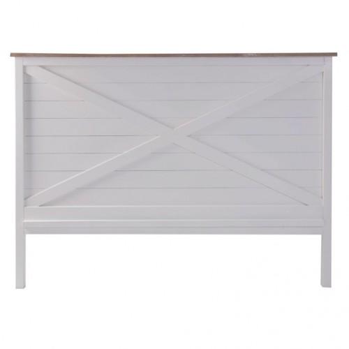 Testata letto legno bianco shabby