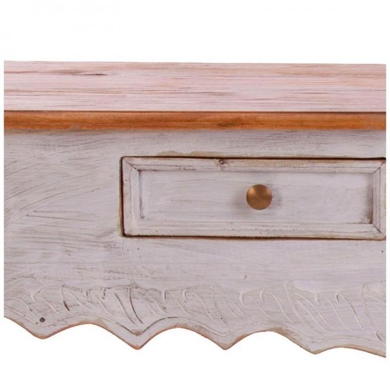 Consolle legno bianco decapato