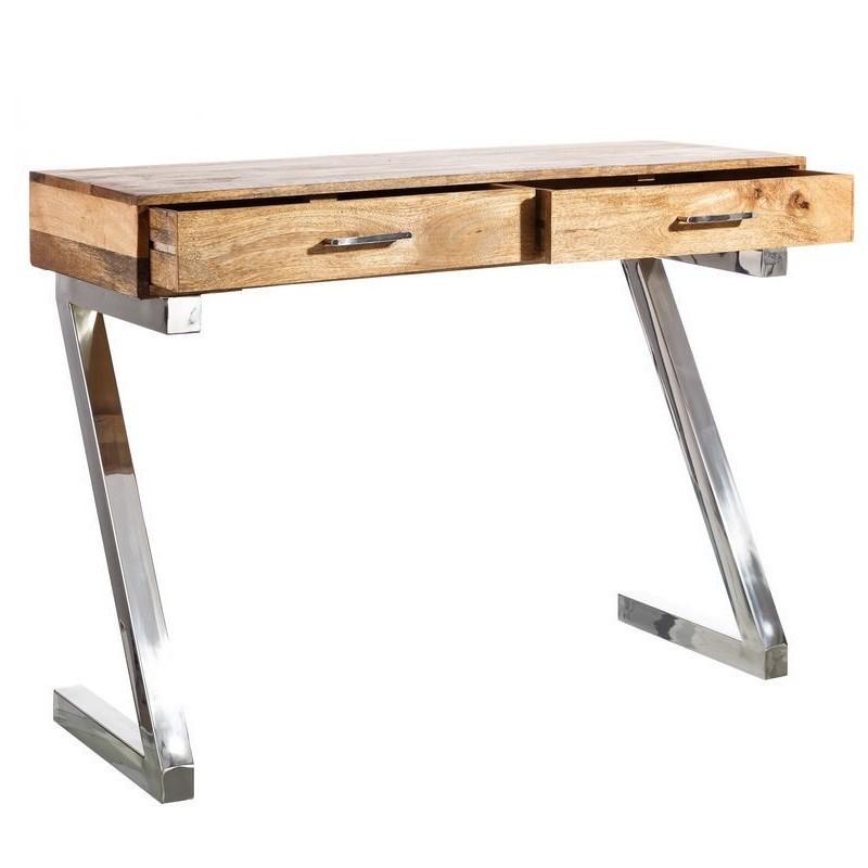 Scrittoio industrial legno acciaio Etnic Outlet Arredamento Etnico e ...