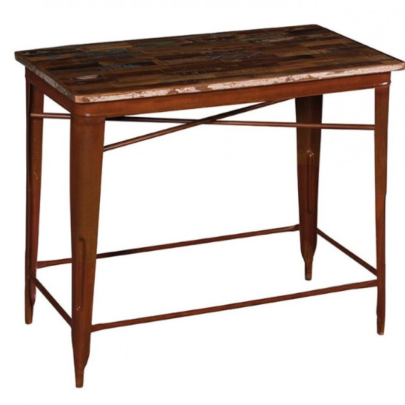 Tavolo pub industrial ferro e legno