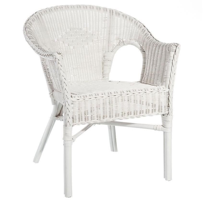 poltroncina rattan bianco shabby etnic outlet arredamento. Black Bedroom Furniture Sets. Home Design Ideas