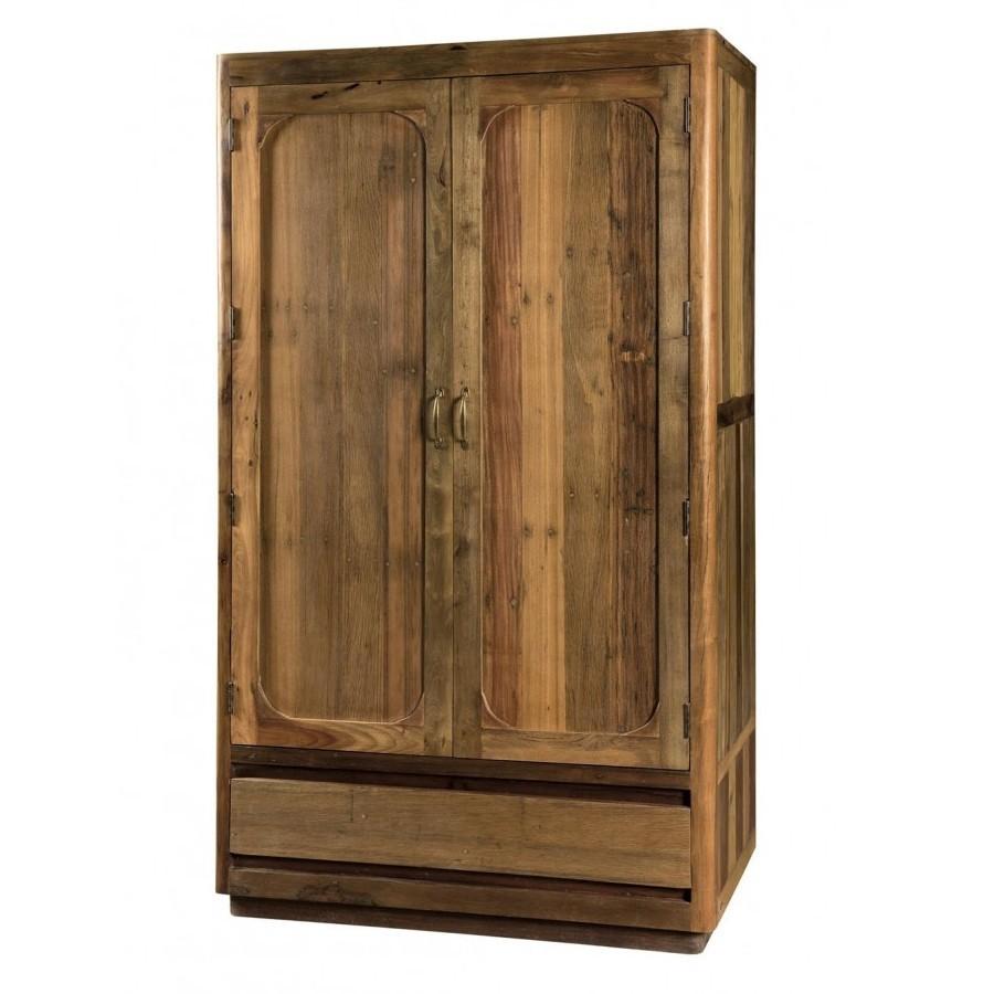 Armadio in legno riciclato etnic outlet arredamento etnico e non solo for Etnico outlet