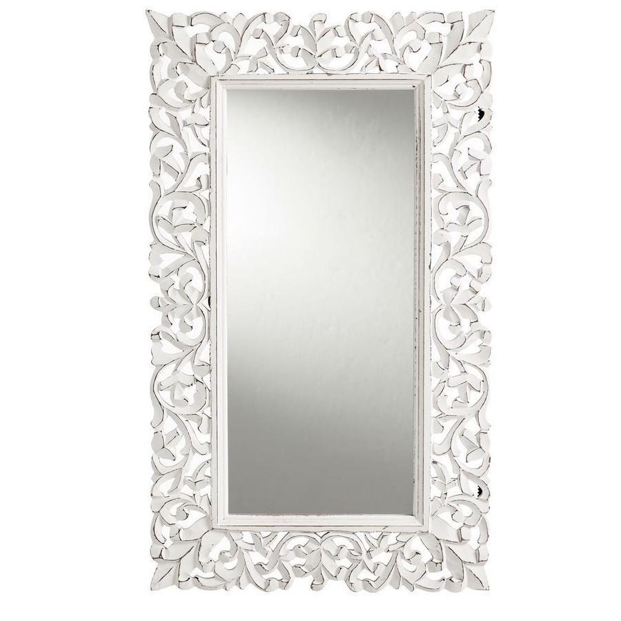 Specchio shabby chic legno Etnic Outlet Arredamento Etnico e non solo