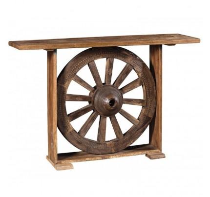 Consolle industrial ruota antica