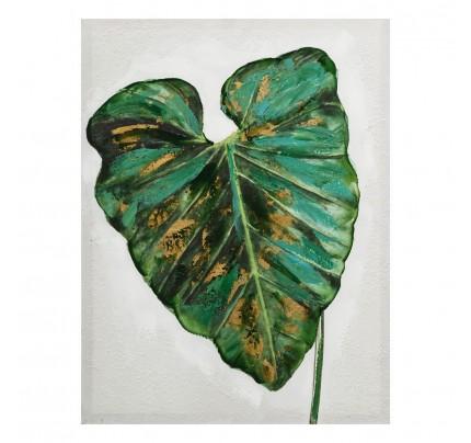 Dipinto foglie verdi canvas