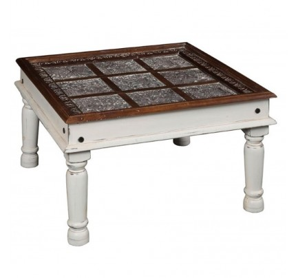 Tavolino orientale bianco