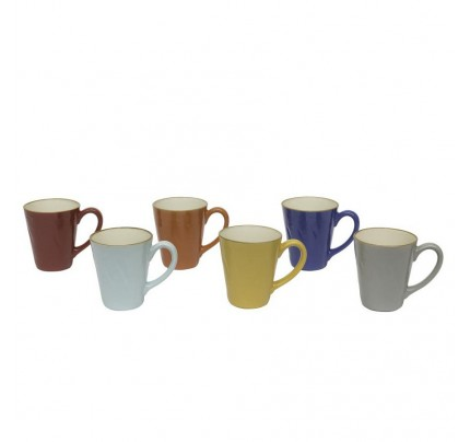 Set 6 Mug colori assortiti