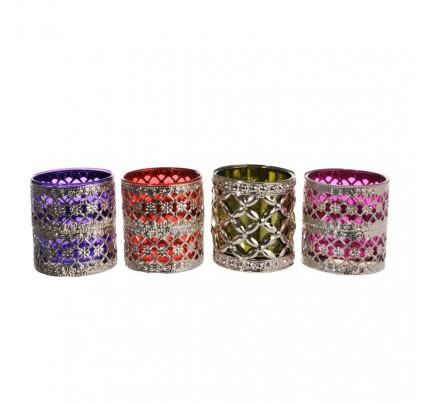 Set 4 T-light bicchierini marocchini