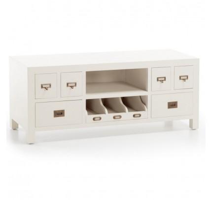 Porta Tv legno bianco