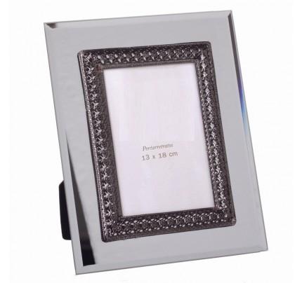 Portafoto specchio cristallo