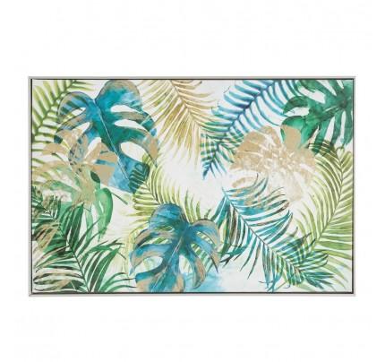 Stampa su tela foglie tropicali