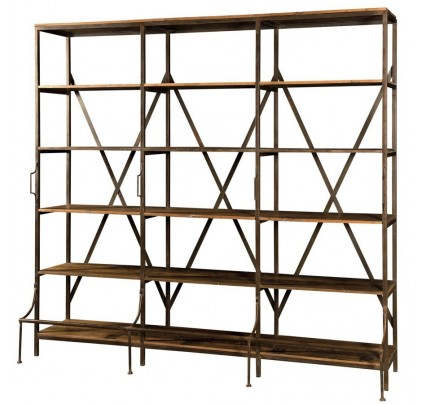 Libreria industrial 3 spazi