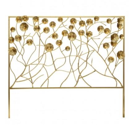 Testata letto decò chic fiori oro