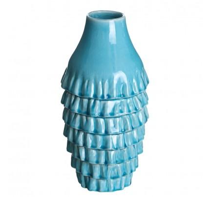 Vaso ceramica turchese H 41