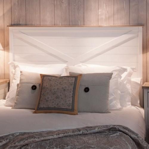 Testata letto legno bianco shabby Etnic Outlet Arredamento Etnico e ...
