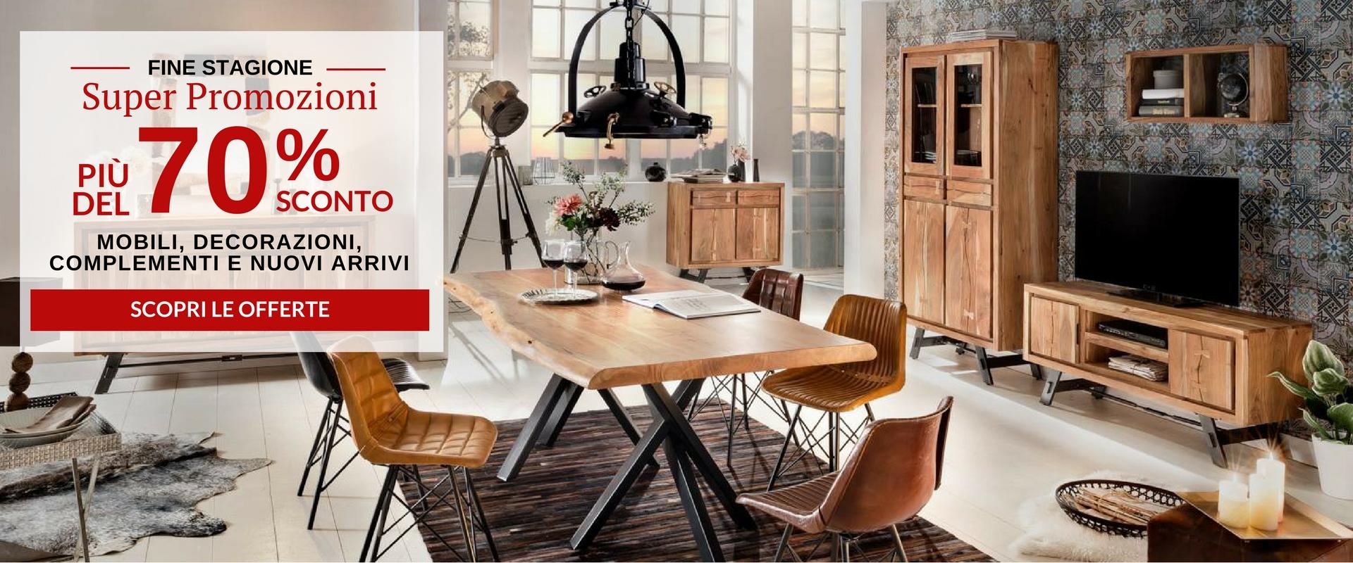 Mobili etnici industrial e vintage vendita online con for Mobili vendita online offerte
