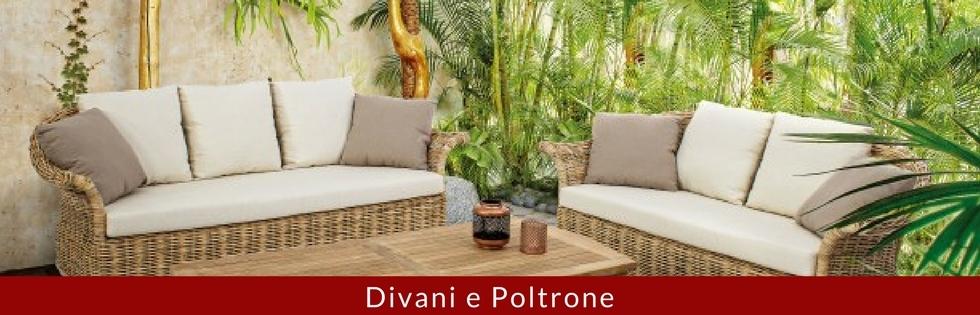 divani e poltrone giardino