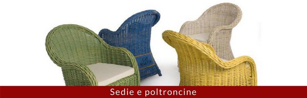 Sedie e poltroncine